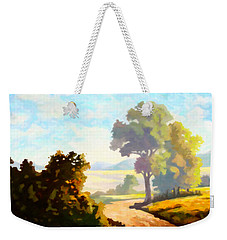 Weekender Tote Bag featuring the painting Lovely Day by Anthony Mwangi