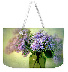 Lovely Lilac  Weekender Tote Bag by Jessica Jenney