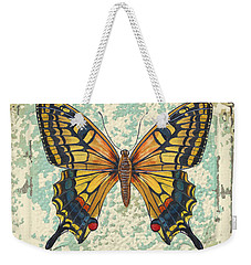 Lovely Yellow Butterfly On Tin Tile Weekender Tote Bag by Jean Plout