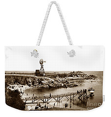 Lovers Point Beach And Old Wooden Pier Pacific Grove August 18 1900 Weekender Tote Bag