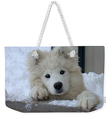 Loving The Snow Weekender Tote Bag