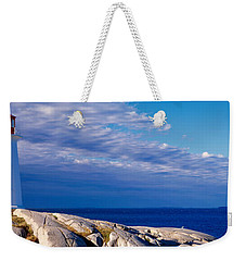 Low Angle View Of A Lighthouse, Peggys Weekender Tote Bag