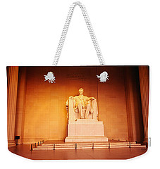 Low Angle View Of A Statue Of Abraham Weekender Tote Bag by Panoramic Images