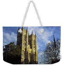 Low Angle View Of An Abbey, Westminster Weekender Tote Bag by Panoramic Images