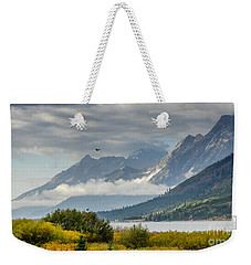 Low Clouds On The Teton Mountains Weekender Tote Bag
