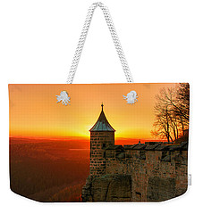 Low Sun On The Fortress Koenigstein Weekender Tote Bag