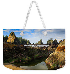Low Tide At The Arches Weekender Tote Bag