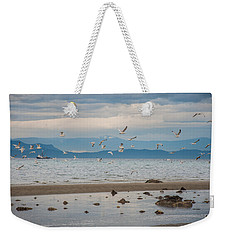 Herring Season  Weekender Tote Bag by Roxy Hurtubise