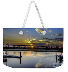 Lowcountry Marina Sunset Weekender Tote Bag