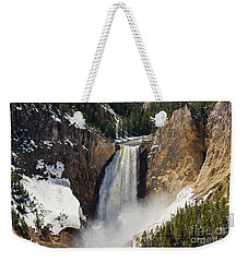 Lower Falls Of The Yellowstone Weekender Tote Bag by Sue Smith