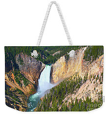 Lower Falls Yellowstone 2 Weekender Tote Bag by Teresa Zieba