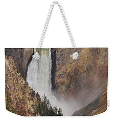 Weekender Tote Bag featuring the photograph Lower Falls - Yellowstone by Mary Carol Story