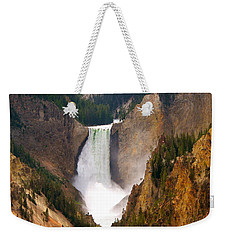 Weekender Tote Bag featuring the photograph Lower Yellowstone Falls by Eric Tressler