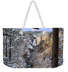 Lower Yellowstone Falls In October Weekender Tote Bag
