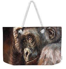 Lowland Gorilla Weekender Tote Bag by David Stribbling
