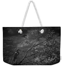Loxahatchee Heron At Sunset Weekender Tote Bag