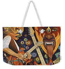 Lucha Rock Weekender Tote Bag by Ricardo Chavez-Mendez