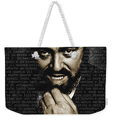 Luciano Pavarotti Weekender Tote Bag