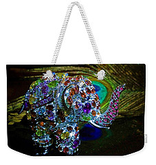 Lucky Jeweled Elephant Weekender Tote Bag by Susan Maxwell Schmidt