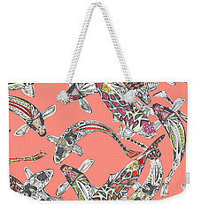 Lucky Koi Coral Weekender Tote Bag