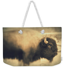 Lucky Yellowstone Buffalo Weekender Tote Bag by Lynn Sprowl