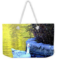 Weekender Tote Bag featuring the photograph Lucy by Deena Stoddard