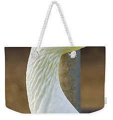 Weekender Tote Bag featuring the photograph Lucy Goose by Naomi Burgess