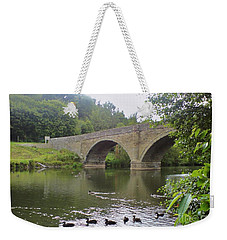 Weekender Tote Bag featuring the photograph Ludlow Bridge by John Williams