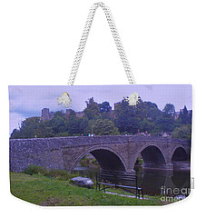 Weekender Tote Bag featuring the photograph Ludlow Castle by John Williams