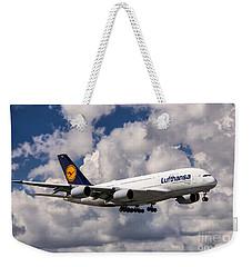 Lufthansa A380 Hamburg Weekender Tote Bag