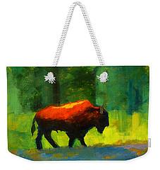Lumbering Weekender Tote Bag by Nancy Merkle