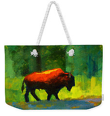 Lumbering Weekender Tote Bag by Nancy Merkle