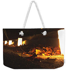 Weekender Tote Bag featuring the photograph Luminaries by Andrea Anderegg