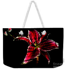 Weekender Tote Bag featuring the photograph Luminet Darkness by Jessica Shelton