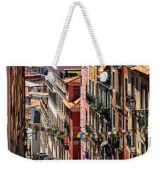 Luminous Lisbon Weekender Tote Bag