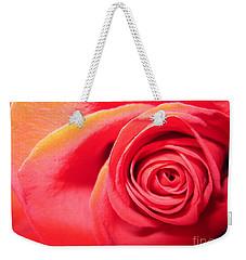 Luminous Red Rose 1 Weekender Tote Bag