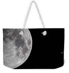 Luna And Jupiter Weekender Tote Bag by Jason Politte