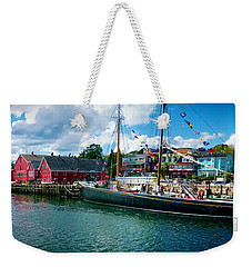 Lunenburg Nova Scotia Weekender Tote Bag by Patricia L Davidson
