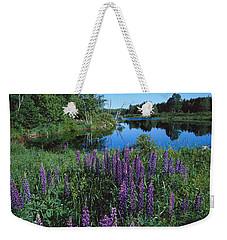 Lupin And Lake-sq Weekender Tote Bag