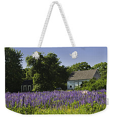Lupine Flowers Near Round Pond Maine Weekender Tote Bag by Keith Webber Jr
