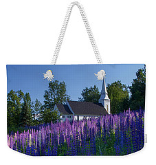 Lupines At St. Matthews In Sugar Hill Weekender Tote Bag