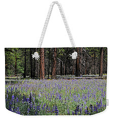 Weekender Tote Bag featuring the photograph Lupines In Yosemite Valley by Lynn Bauer
