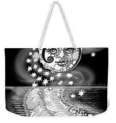 Weekender Tote Bag featuring the digital art Lure Of Moonlight by Carol Jacobs