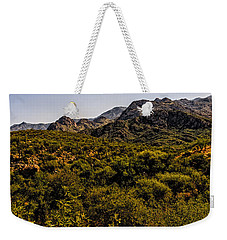 Weekender Tote Bag featuring the photograph Lush Foothills No.1 by Mark Myhaver