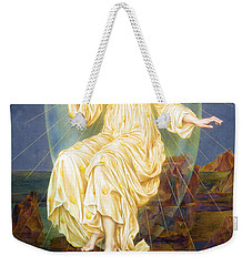 Lux In Tenebris Weekender Tote Bag by Evelyn De Morgan