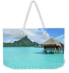 Luxury Overwater Vacation Resort On Bora Bora Island Weekender Tote Bag