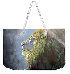 Lying In The Moonlight, Lion Weekender Tote Bag
