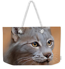 Lynx Portrait Weekender Tote Bag