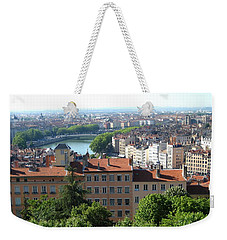 Weekender Tote Bag featuring the photograph Lyon From Above by Dany Lison