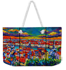 Lyon Panorama Triptych Weekender Tote Bag
